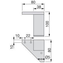 Kit de 4 pies Alumix1 Emuca para mueble, altura 100 mm en gris metalizado - Ítem1
