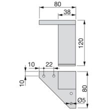 Kit de 4 pies para mueble Alumix1 Emuca altura 120 mm gris metalizado - Ítem1