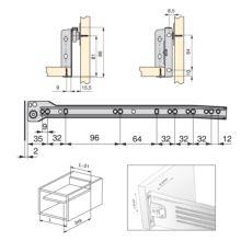 Lote de 10 kits de cajón exterior Ultrabox Emuca altura 86 mm y profundidad 350 mm - Ítem1