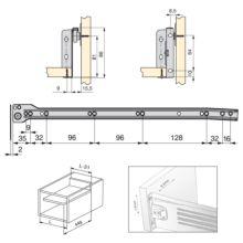 Lote de 10 kits de cajón exterior Ultrabox Emuca altura 86 mm y profundidad 450 mm - Ítem1