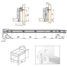 Emuca Kit cajón de cocina Ultrabox, altura 86 mm, prof. 500 mm, Acero, Gris metalizado, 10 ud. - Ítem2