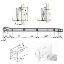Lote de 10 kits de cajón exterior Ultrabox Emuca altura 118 mm y profundidad 450 mm - Ítem1