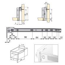 Emuca Kit cajón de cocina Ultrabox, altura 150 mm, prof. 350 mm, Acero, Gris metalizado, 10 ud. - Ítem4