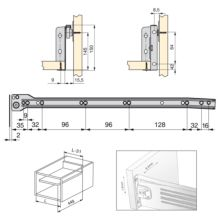 Emuca Kit cajón de cocina Ultrabox, altura 150 mm, prof. 450 mm, Acero, Gris metalizado, 10 ud. - Ítem1