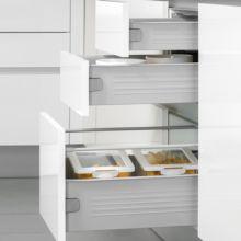 Emuca Kit cajón de cocina Ultrabox, altura 150 mm, prof. 450 mm, Acero, Gris metalizado, 10 ud. - Ítem2