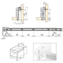 Lote de 10 kits de cajón exterior Ultrabox Emuca altura 150 mm y profundidad 500 mm - Ítem1