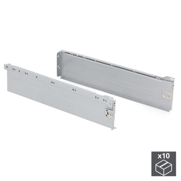 Lote de 10 kits de cajón exterior Ultrabox Emuca altura 150 mm y profundidad 500 mm