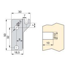 Emuca Juego Barandillas para cajón Ultrabox, D. 10 mm, Prof. 450 mm, Acero, Gris metalizado, 10 ud. - Ítem5