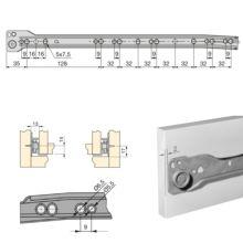 Lote de 5 juegos de guías para cajón T30 Emuca con extracción parcial L 400 mm en color blanco - Ítem1