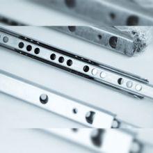 Emuca Juego de guías para cajones, de bolas, 17x 342 mm, extracción parcial, Cincado, 5 ud. - Ítem2