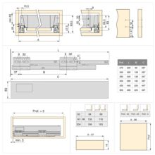 Kit de cajón exterior Vantage-Q Emuca altura 83 mm y profundidad 350 mm - Ítem2