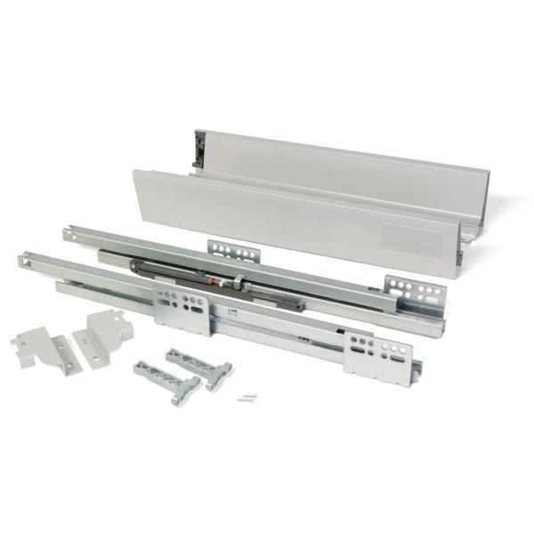 Kit de cajón exterior Vantage-Q Emuca altura 83 mm y profundidad 350 mm