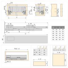 Kit de cajón exterior Vantage-Q Emuca altura 83 mm y profundidad 450 mm - Ítem2