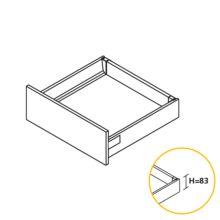 Kit de cajón Vantage-Q Emuca altura 83 mm y profundidad 500 mm en color blanco - Ítem1