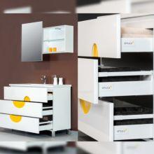 Kit de cajón Vantage-Q Emuca altura 204 mm y profundidad 350 mm con barandillas en color gris metalizado - Ítem4