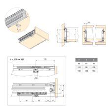 Kit de cierre suave para cajón Ultrabox Emuca L 350 - 500 mm - Ítem2