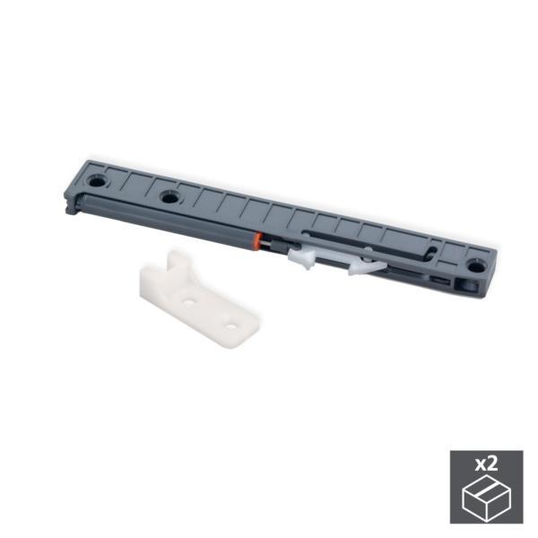 Kit de cierre suave para cajón con guías de ruedas T30 Emuca L 350 - 800 mm