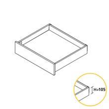 Emuca Kit cajón de cocina Concept, altura 105 mm, prof. 300 mm, cierre suave, Acero, Blanco - Ítem1