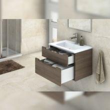 Emuca Kit cajón de cocina Concept, altura 105 mm, prof. 300 mm, cierre suave, Acero, Blanco - Ítem3