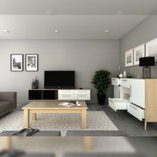 Emuca Kit cajón de cocina Concept, altura 105 mm, prof. 300 mm, cierre suave, Acero, Blanco - Ítem4