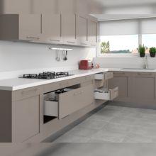 Emuca Kit cajón de cocina Concept, altura 105 mm, prof. 300 mm, cierre suave, Acero, Blanco - Ítem5