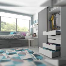Emuca Kit cajón de cocina Concept, altura 105 mm, prof. 400 mm, cierre suave, Acero, Gris antracita - Ítem3