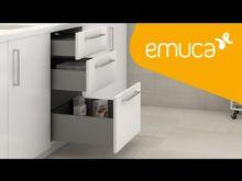 Emuca Kit cajón de cocina Concept, altura 138 mm, prof. 350 mm, cierre suave, Acero, Gris antracita - Ítem6