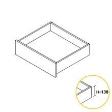 Emuca Kit cajón de cocina Concept, altura 138 mm, prof. 400 mm, cierre suave, Acero, Blanco - Ítem1