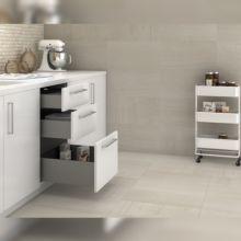 Emuca Kit cajón de cocina Concept, altura 138 mm, prof. 400 mm, cierre suave, Acero, Gris antracita - Ítem3