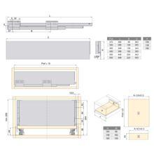 Kit de cajón Concept Emuca altura 185 mm y profundidad 350 mm en color blanco - Ítem2