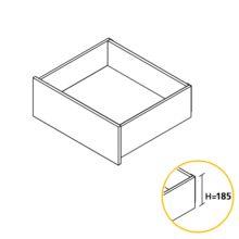 Emuca Kit cajón de cocina Concept, altura 185 mm, prof. 400 mm, cierre suave, Acero, Blanco - Ítem2