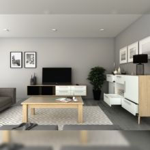 Emuca Kit cajón de cocina Concept, altura 185 mm, prof. 400 mm, cierre suave, Acero, Blanco - Ítem5