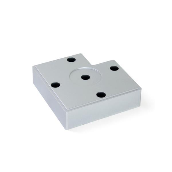 Pie para mueble Alumix7 Emuca altura 15 mm en gris metalizado