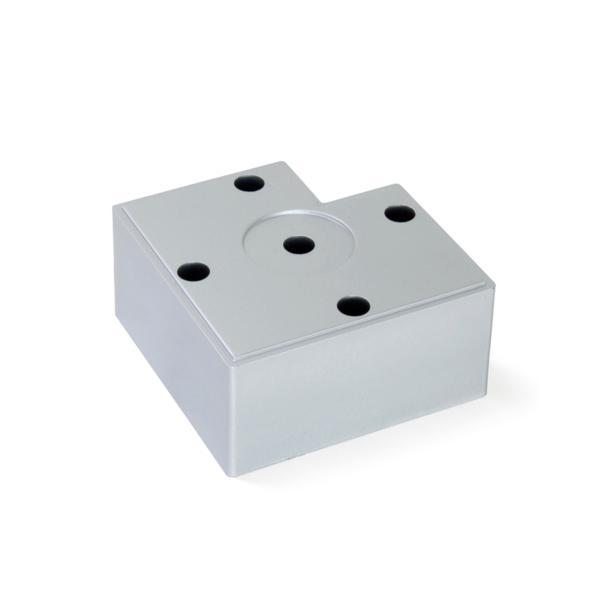Pie Alumix7 Emuca para mueble, altura 45 mm en gris metalizado