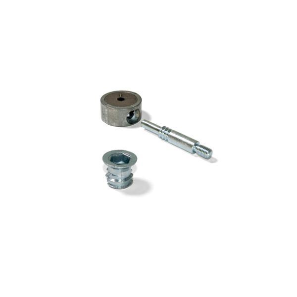 Kit cazoleta de unión Emuca D. 35 mm y tuercas M8