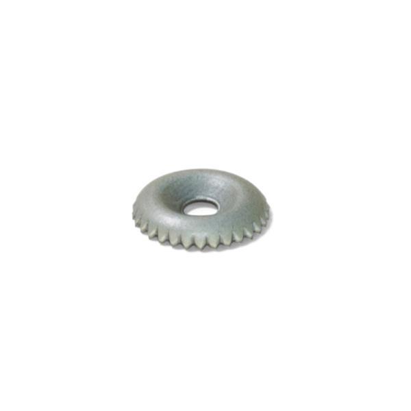 Emuca Grapa para trasera de armario, circular, D. 15 mm, Acero, Cincado, 50 ud.