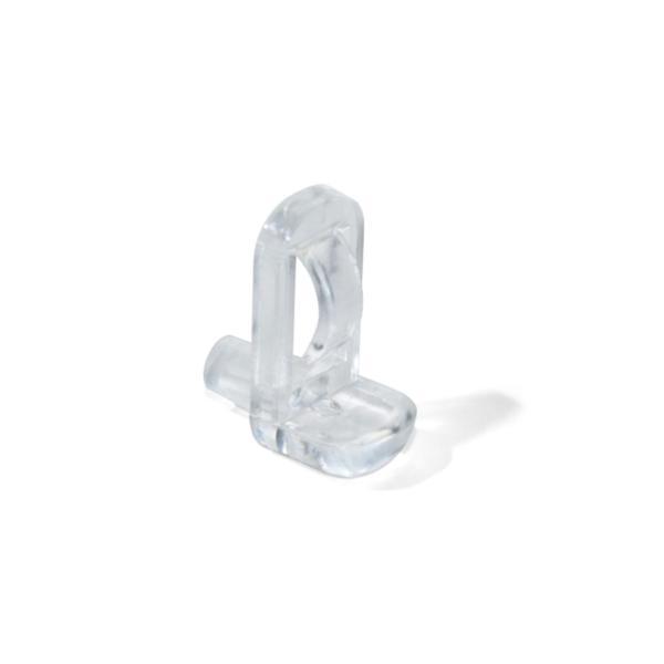 Lote de 50 Soportes transparentes para estantes de cristal 540 Emuca