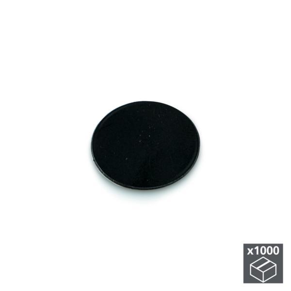 Lote de 1.000 tapas adhesivas Emuca D. 13 mm en acabado negro