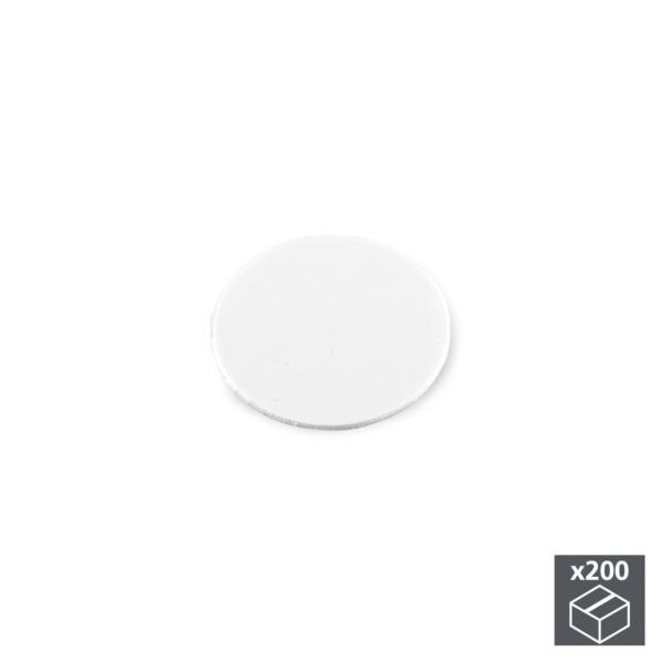 Lote de 200 tapas adhesivas Emuca D. 13 mm en acabado blanco