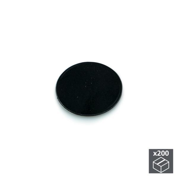 Lote de 200 tapas adhesivas Emuca D. 13 mm en acabado negro
