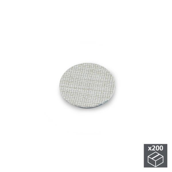 Lote de 200 tapas adhesivas Emuca D. 13 mm en acabado efecto textil gris
