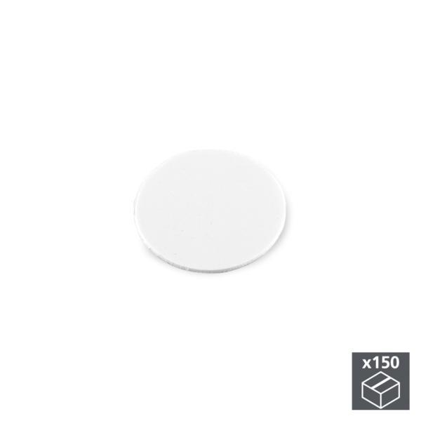 Lote de 150 tapas adhesivas Emuca D. 20 mm en acabado blanco