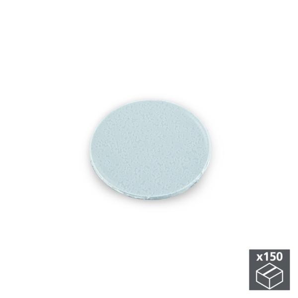 Lote de 150 tapas adhesivas Emuca D. 20 mm en acabado gris