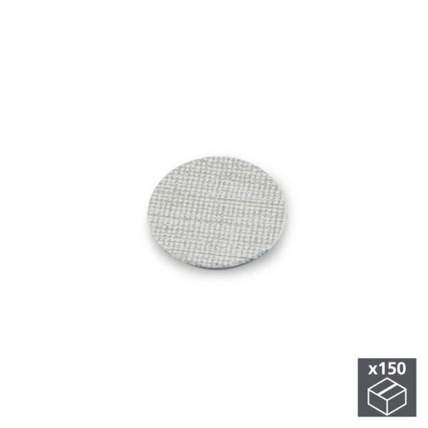 Lote de 150 tapas adhesivas Emuca D. 20 mm en acabado efecto textil gris