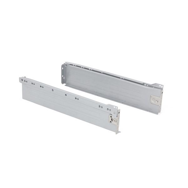 Kit de cajón Ultrabox Emuca altura 86 mm y profundidad 270 mm en color gris metalizado
