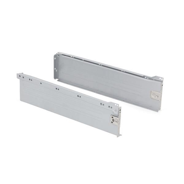 Kit de cajón Ultrabox Emuca altura 150 mm y profundidad 400 mm en color gris metalizado
