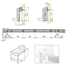 Kit de cajón exterior Ultrabox Emuca altura 150 mm y profundidad 500 mm - Ítem1