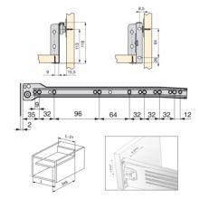 Kit de cajón exterior Ultrabox Emuca altura 118 mm y profundidad 350 mm - Ítem1