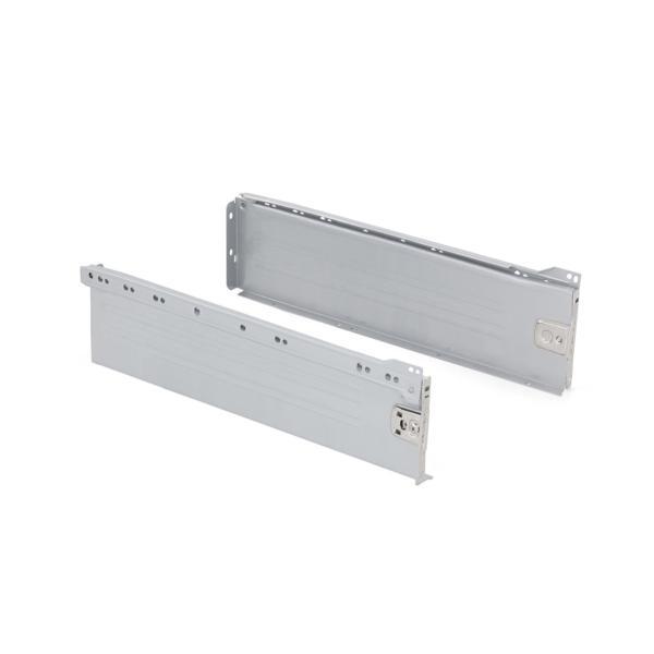 Emuca Kit cajón de cocina Ultrabox, altura 150 mm, prof. 350 mm, Acero, Gris metalizado
