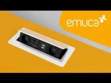 Emuca Multiconector de mesa, 2 USB +1 HDMI + 2 enchufes EU, 265x120 mm, Acero y aluminio, Negro - Ítem4